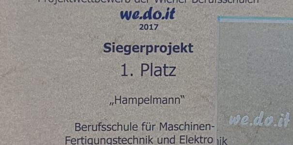 1. Platz bei we.do.it